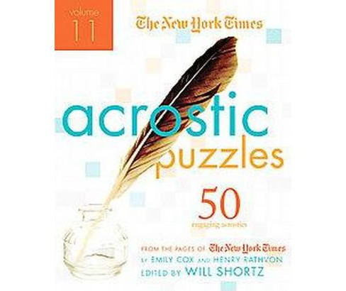 The New York Times Acrostic Puzzles (Paperback) - image 1 of 1