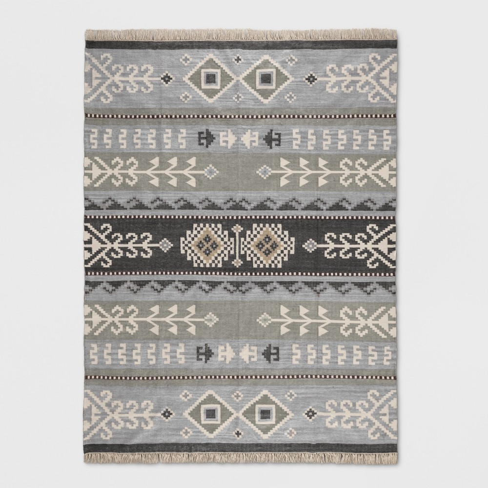 9'X12' Woven Area Rug Gray - Threshold was $549.99 now $274.99 (50.0% off)