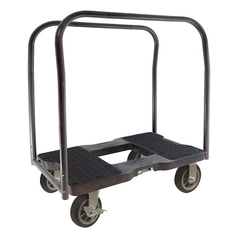 Snap Loc 1,500 lb Capacity All Terrain E Track Panel Cart Dolly Black, Heavy Duty 6 in Solid Rubber Swivel Caster Wheels - image 1 of 4