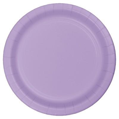 "Luscious Lavender Purple 9"" Paper Plates - 24ct"