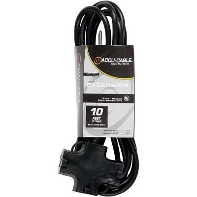 American DJ EC163-3FER 16 Gauge 3-Way IEC Power Extension Cord