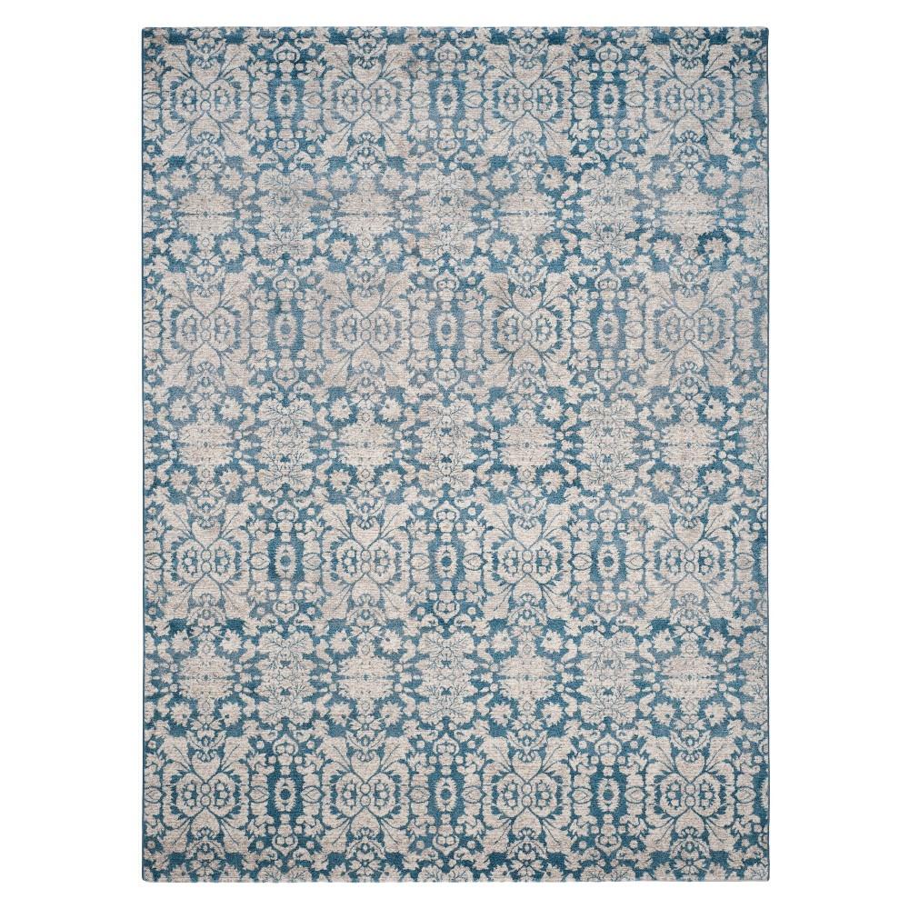 Blue/Beige Abstract Loomed Area Rug - (8'x11') - Safavieh
