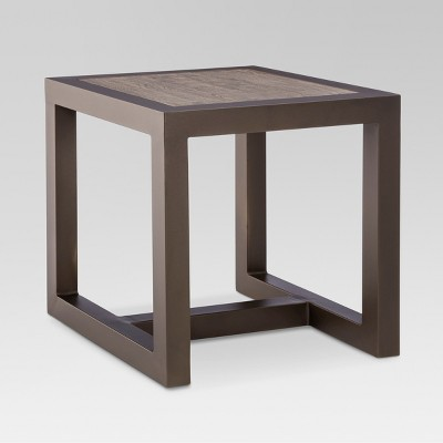 Edgewood Metal Square Patio Side Table - Gray - Smith & Hawken™