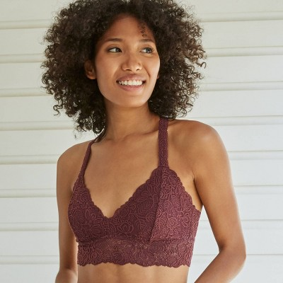Women's T-Back Bralette - Auden™ Burgundy