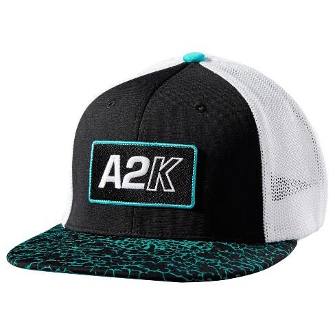 6c24a557d2a Wilson A2K Flexfit Baseball Softball Trucker Hat - Black White Teal ...