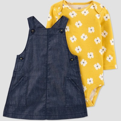 Baby Girls' Chambray Top & Bottom Set - Just One You® made by carter's Gold 3M