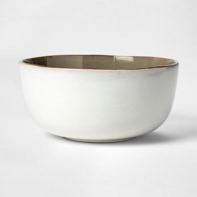 Cravings by Chrissy Teigen 9  Stoneware Serving Bowl White/Gray
