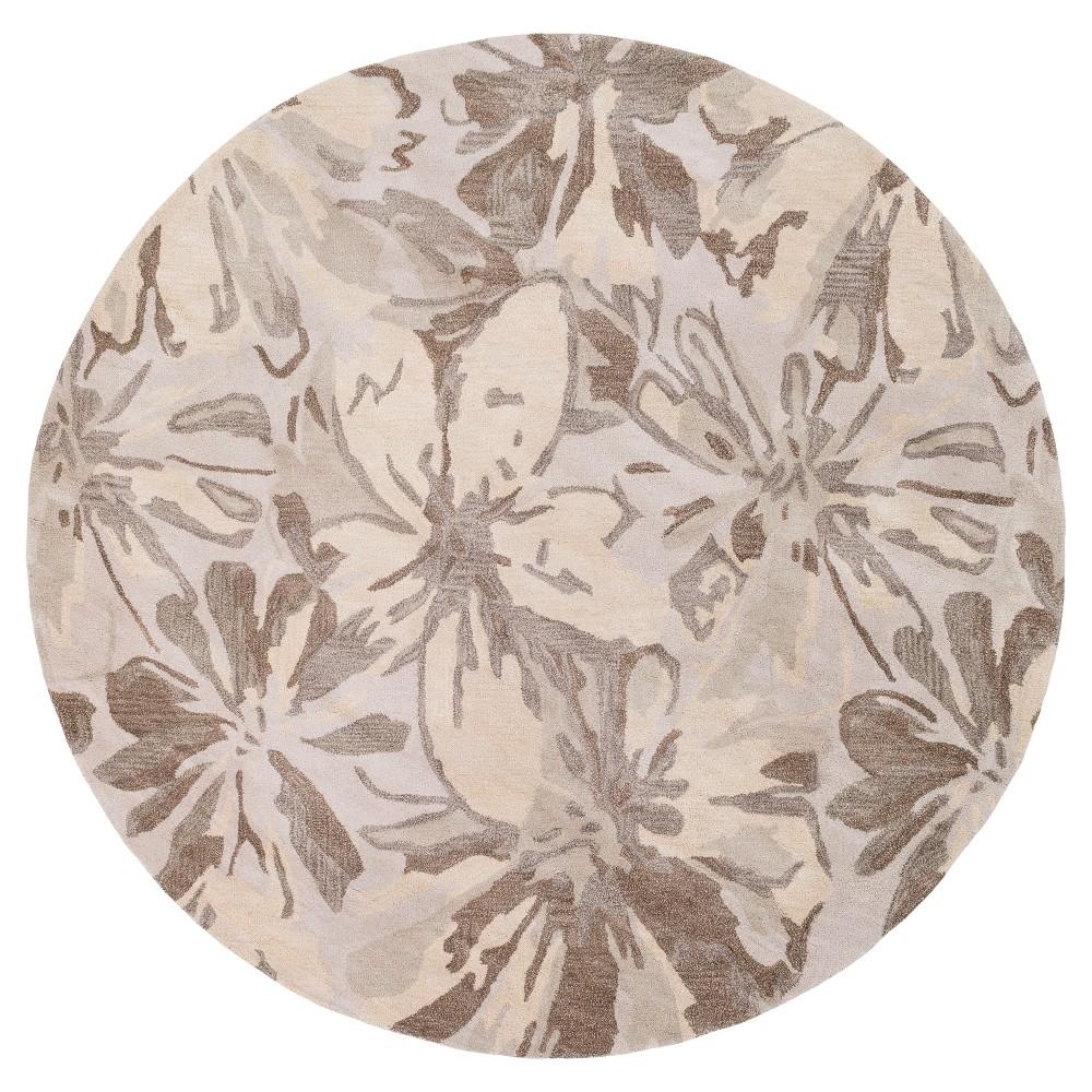Amaranthus Area Rug - Light Gray, Khaki - (9'9 Round) - Surya