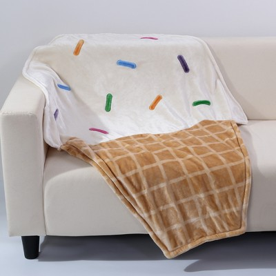 Throw Blankets Beige With White (40 X50 )- Better Living