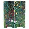 Klimt Fine Art Double Sided Room Divider Tannenwald and Farm Garden - Oriental Furniture - image 3 of 3