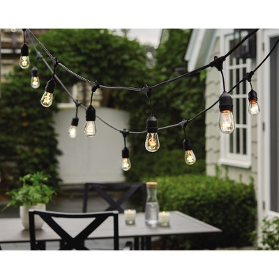 How To Wire Outdoor String Lights: 10ct Heavy-Duty Drop Outdoor String Lights Black Wire - Threshold™rh:target.com,Design