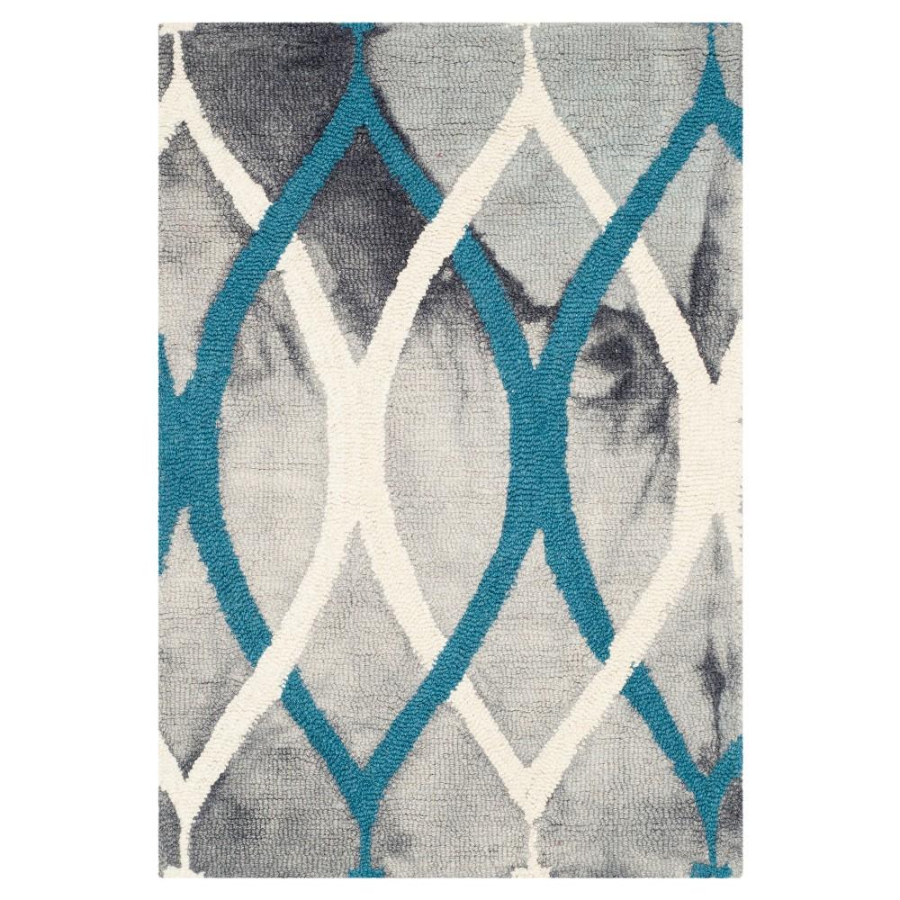 Garret Area Rug Grayivory Blue 2x3 Safavieh