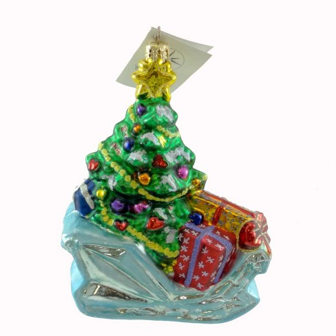 Christopher Radko Crystal Cruiser Ornament Sled Gifts Christmas - image 1 of 2