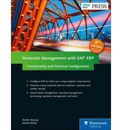 Materials Management With SAP ERP : Functionality and Technical Configuration (Hardcover) (Martin Murray - image 1 of 1