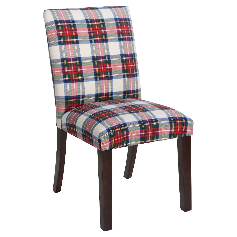 Uptown Dining Chair - Red/White - Skyline Furniture, Red And White Plaid