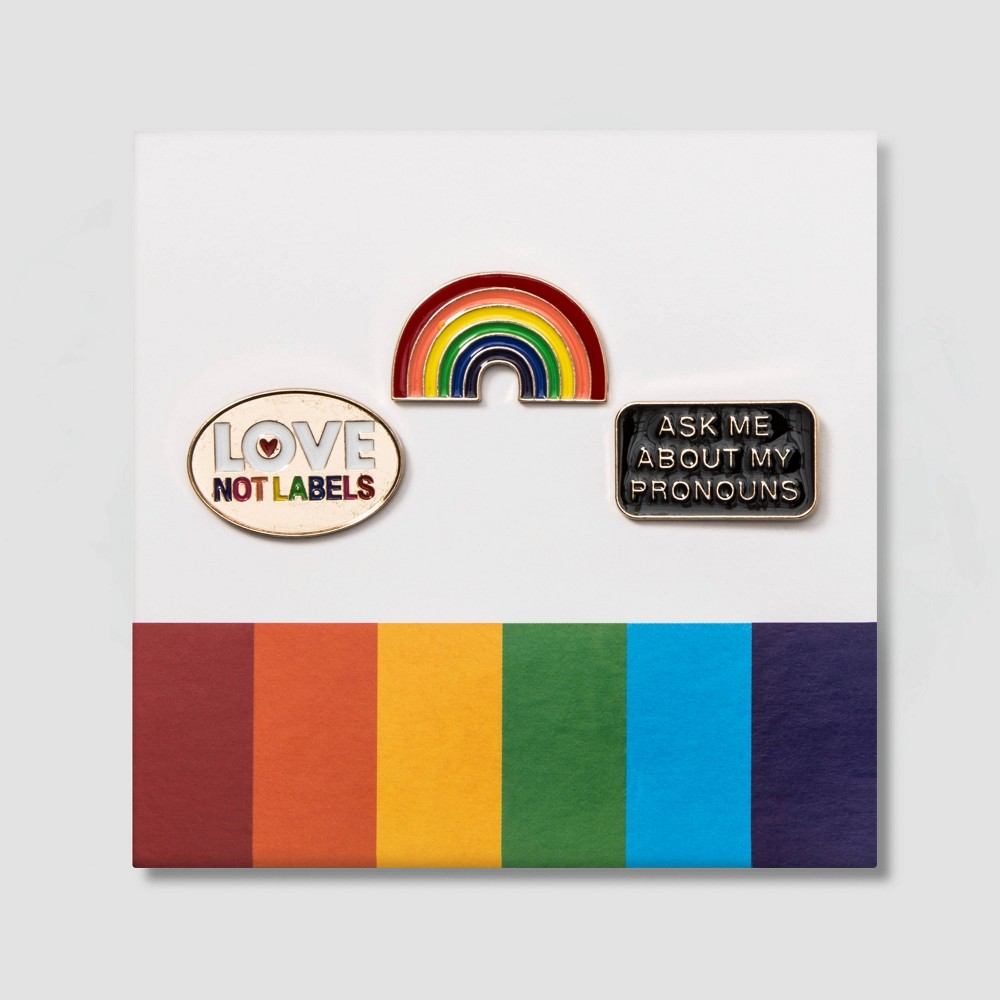 Pride Rainbow Pins, Multicolor Rainbow