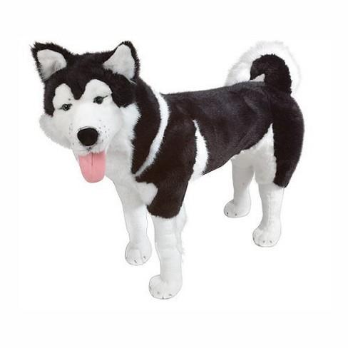 Melissa Doug Giant Siberian Husky Lifelike Stuffed Animal Dog