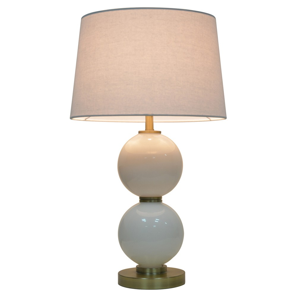 Glass Table Lamp with Touch On/Off White (Includes Cfl bulb) - Pillowfort