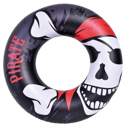 """Pool Central 45"""" Black Inflatable Pirate Inner Tube Pool Float"""