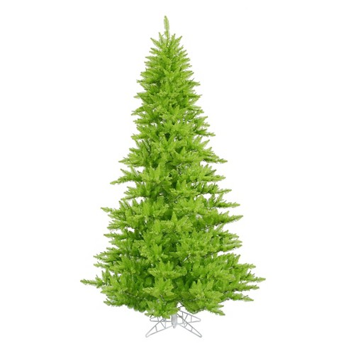 3ft Un - Lit Artificial Christmas Tree Slim Fir - Lime - image 1 of 1