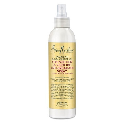 SheaMoisture Jamaican Black Castor Oil Strengthen & Restore Anti-Breakage Spray - 8 fl oz