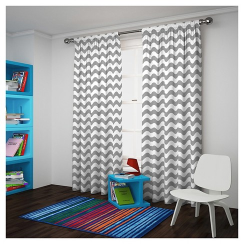 Wavy Chevron Blackout Curtain Panel - Eclipse My Scene - image 1 of 3