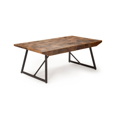 Walden Parquet Cocktail Table Gray/ Natural - Steve Silver