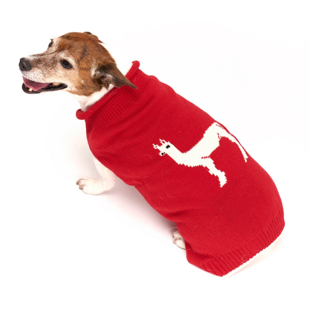 Royal Animals Dog Sweater - Red - L