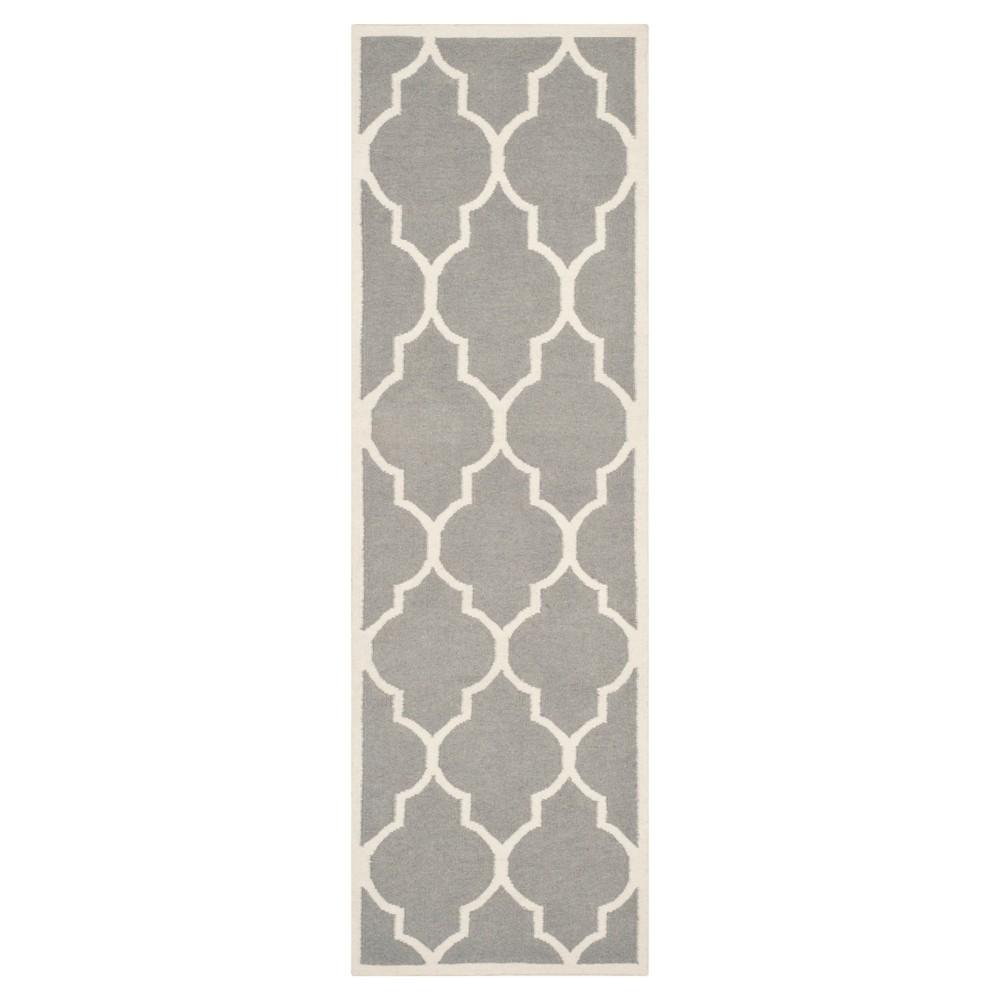 Best Alarice Dhurry Rug - Gray Ivory - (26x6) - Safavieh