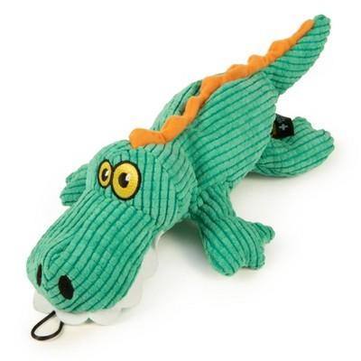 TrustyPup - Plush Gator Dog Toy - Teal - L - 1ct