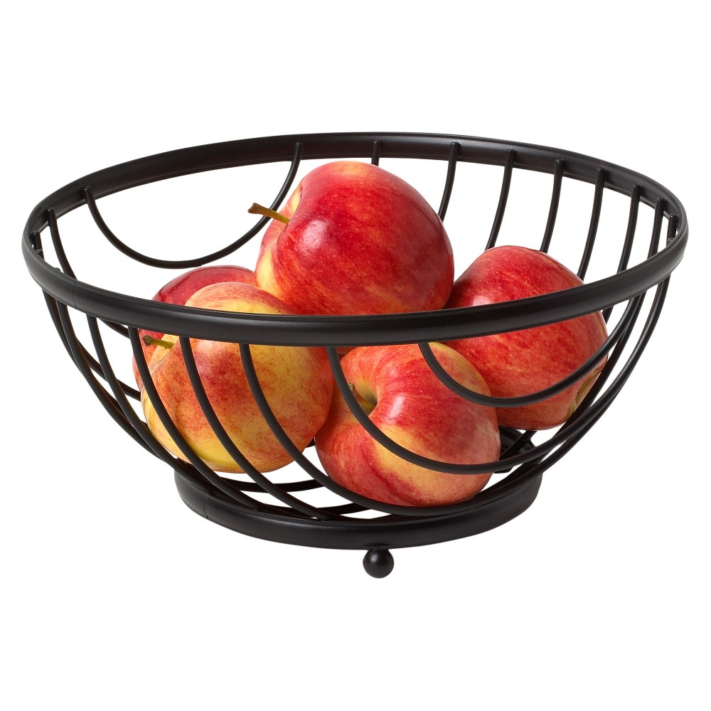 Image of Spectrum Ashley Fruit Bowl - Black