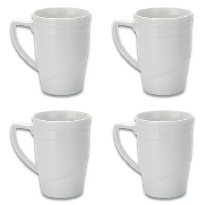 BergHOFF Essentials 12Oz Porcelain Coffee Mugs, Set of 4