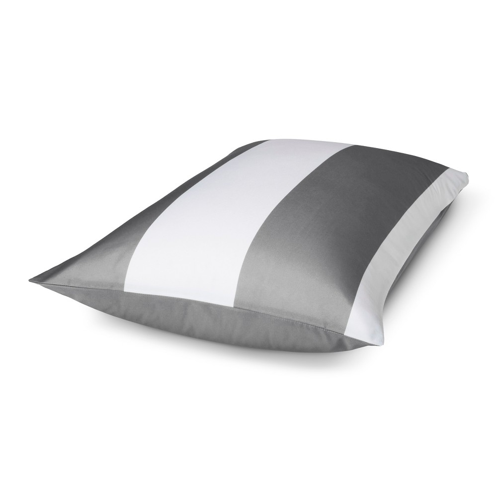 Gray Rugby Stripe Pillow Sham (Standard) - Room Essentials, Earth Gray