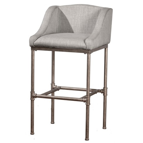 "30"" Dillon Bar Stool Silver/Gray - Hillsdale Furniture - image 1 of 5"