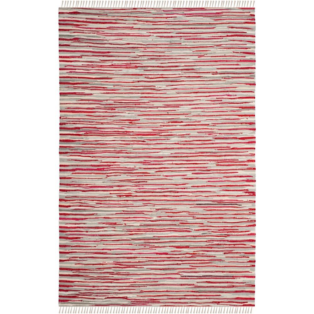 5'X8' Spacedye Design Woven Area Rug Red - Safavieh, Red/Multi-Colored