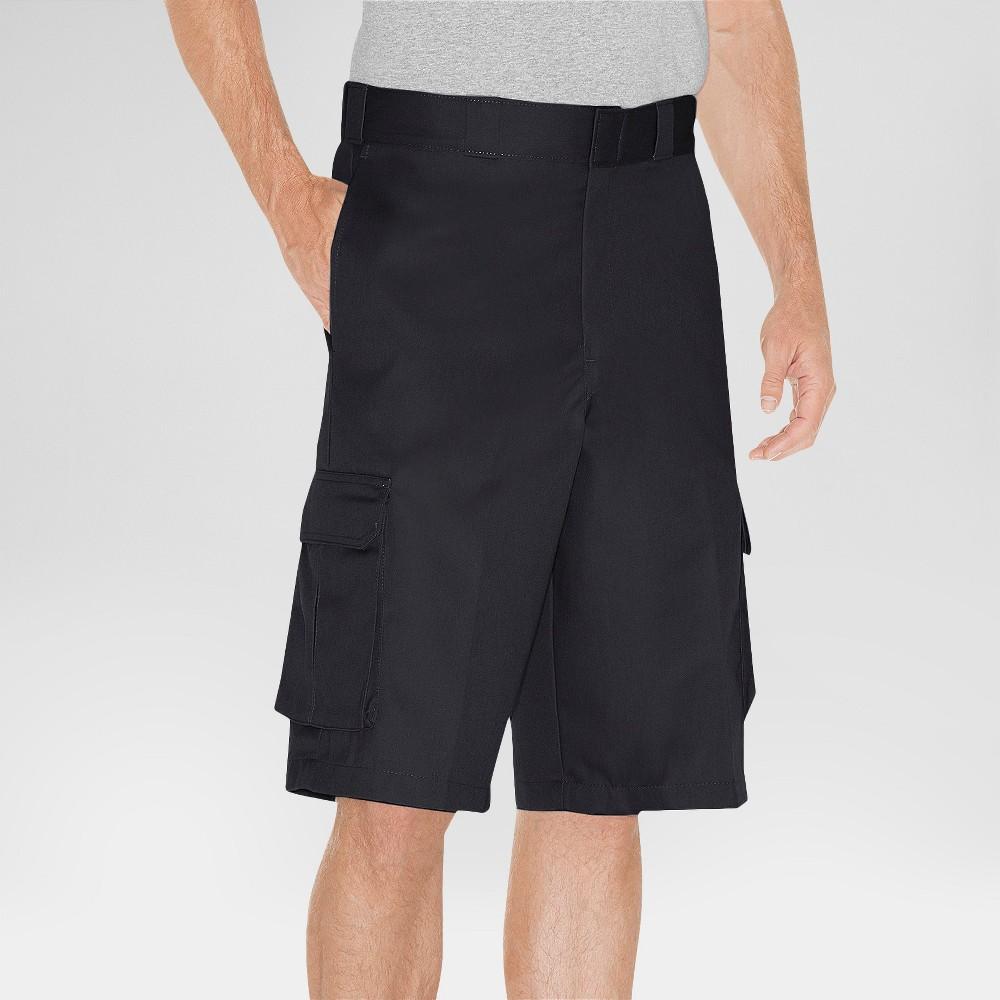 Dickies Men's Loose Fit Twill 13 Cargo Shorts- Black 40