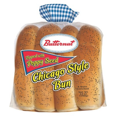 Butternut Poppy Seed Hot Dog Buns - 12oz