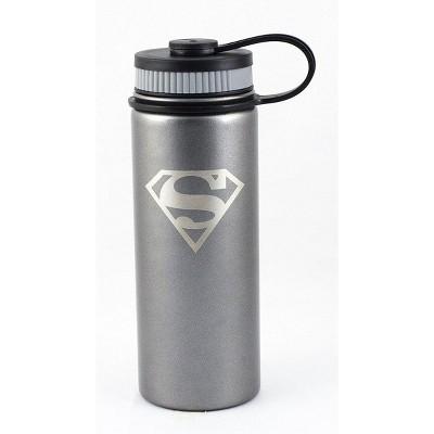 Seven20 DC Superman Logo 18oz Stainless Steel Water Bottle