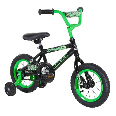 Dynacraft Children's Deluxe Magna Gravel Blaster Beginner Street Bike with Removable Training Wheels, 12-Inch