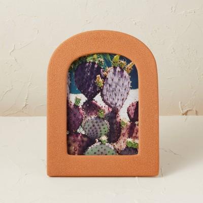 "5""x7"" Ceramic/Glass Photo Frame with Bubble Glaze Finish - Opalhouse™ designed with Jungalow™"