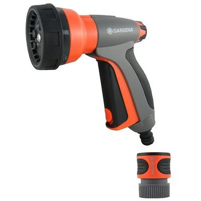 Gardena Multi Purpose 7 in 1 Metal Hose Spray Gun with Flow Control, Orange