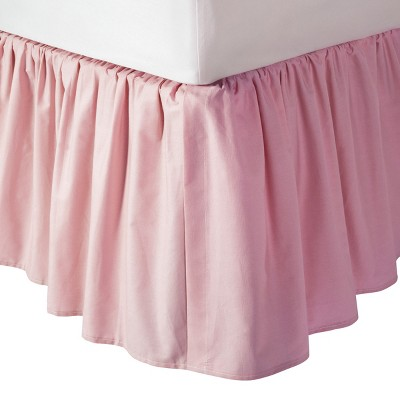 TL Care 100% Cotton Percale Dust Ruffle - Pink