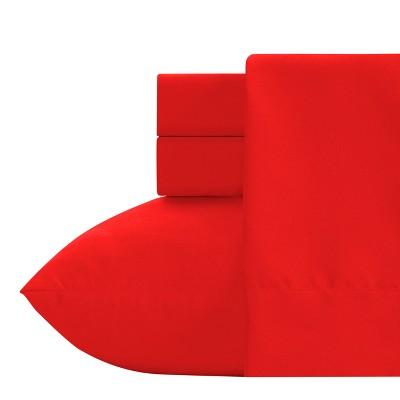 Crayola Red Microfiber Sheet Set (Twin) 3pc
