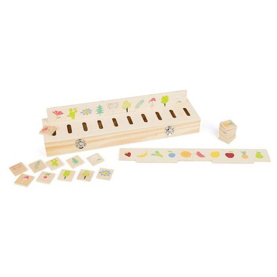 Small Foot Wooden Toys Picture Sorting Box Educational Toy