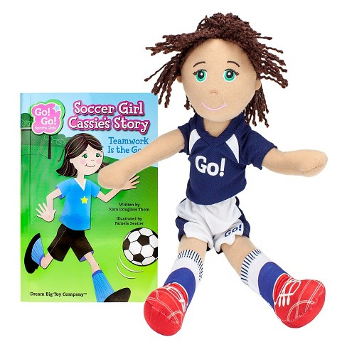 Soccer Girl Cassie Read & Play Doll and Book Set by Go! Go! Sports Girls - image 1 of 3