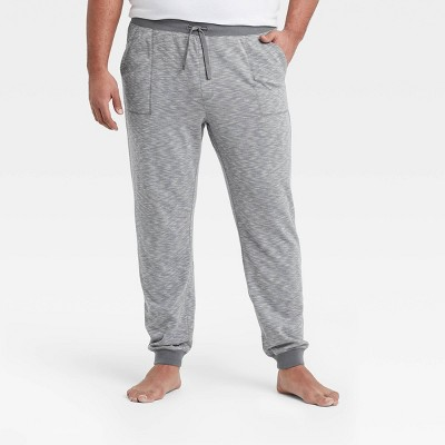 Men's Big & Tall Double Weave Jogger Pajama Pants - Goodfellow & Co™ Thundering Gray