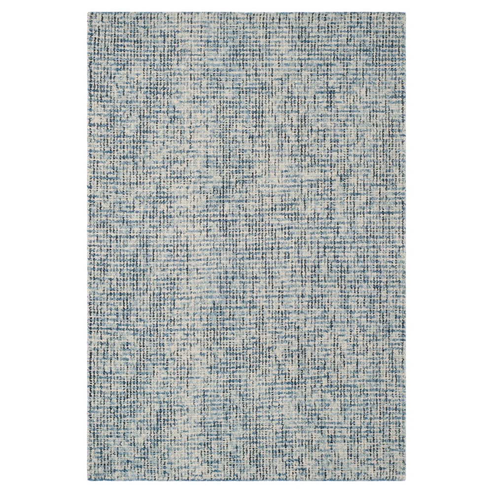Blue/Charcoal (Blue/Grey) Abstract Tufted Area Rug - (4'X6') - Safavieh