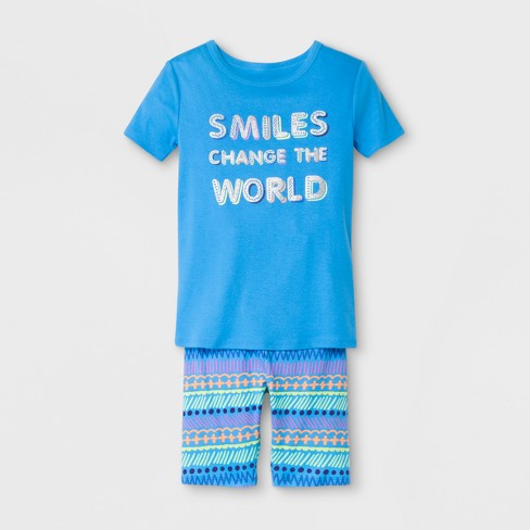 344df48ac Girls  Smiles Change the World Pajama Set With Shorts - Cat   Jack™ Blue