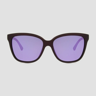Women's Surfer Shade Rubberized with Mirrored Polarized Lenses - All in Motion™ Burgundy