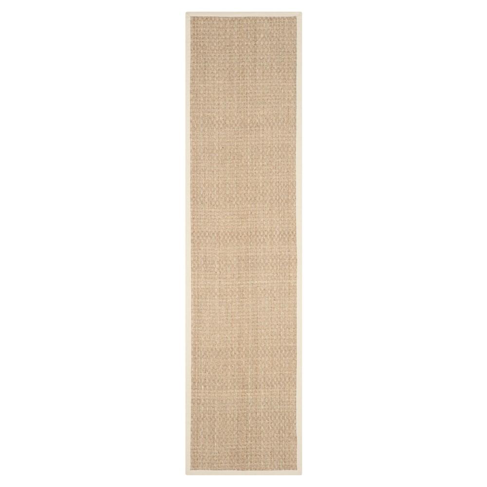 2 6 X16 Basket Weave Runner Natural Ivory Safavieh